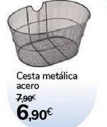 Oferta de Cesta metálica acero  por 6,9€
