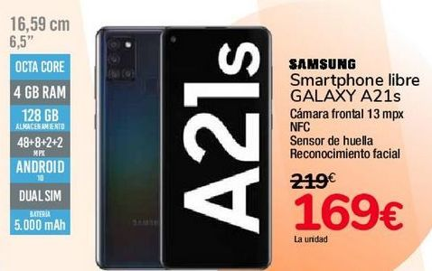 Oferta de SAMSUNG Smartphone libre GALAXY A21s por 169€