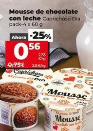 Oferta de Mousse de chocolate por 0,56€