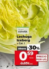 Oferta de Lechuga iceberg por 0,59€