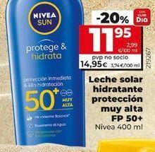 Oferta de Leche solar Nivea por 11,95€