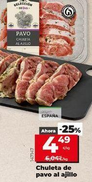 Oferta de Chuletas de pavo por 4,49€