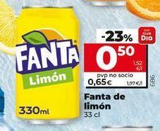 Oferta de Refresco de limón fanta por 0,5€