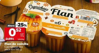 Oferta de Flan de vainilla por 0,52€