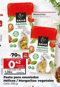 Oferta de Pasta Gallo por 1,39€