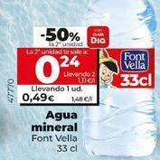 Oferta de Agua Font Vella por 0,49€