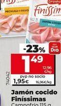 Oferta de Jamón cocido Campofrío por 1,49€