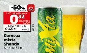 Oferta de Cerveza con limón Shandy por 0,65€