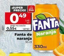 Oferta de Refresco de naranja fanta por 0,49€
