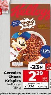 Oferta de Cereales Choco Krispies Kellogg's por 2,29€