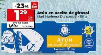 Oferta de Atún en aceite de girasol por 1,29€