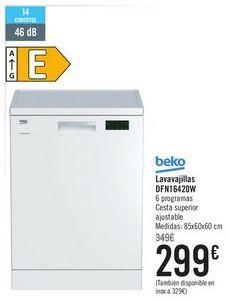 Oferta de BEKO Lavavajillas DFN16420W por 299€