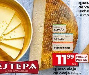 Oferta de Queso de oveja Estepa por 11,99€