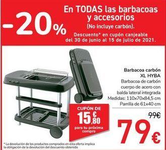 Oferta de Barbacoa carbón XL HYBA por 79€