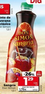 Oferta de Sangría Don Simón por 1,29€