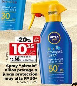 Oferta de Protector solar Nivea por 10,35€