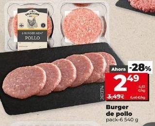 Oferta de Hamburguesas de pollo por 2,49€