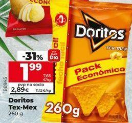 Oferta de Snacks doritos por 1,99€