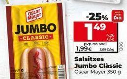 Oferta de Salchichas Oscar Mayer por 1,49€