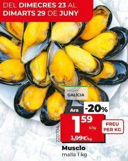 Oferta de Mejillones por 1,59€