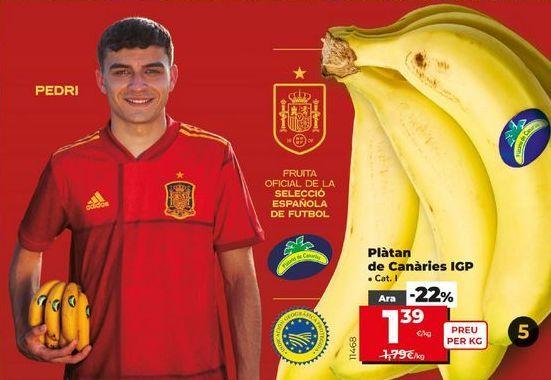 Oferta de Plátanos de Canarias por 1,39€