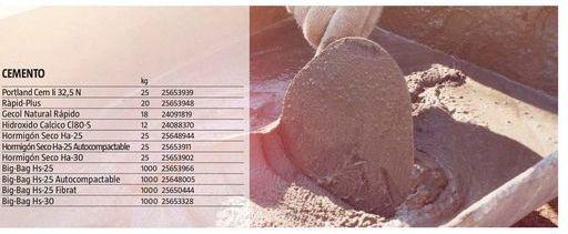 Oferta de Cemento por