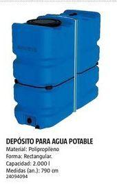 Oferta de Depósito de agua por
