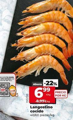 Oferta de Langostinos por 6,99€