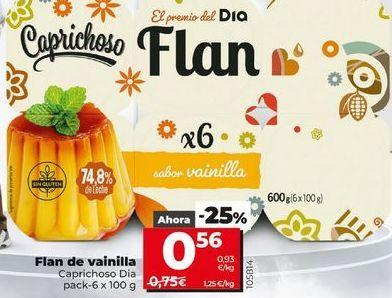 Oferta de Flan de vainilla por 0,56€