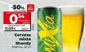 Oferta de Cerveza con limón Shandy por 0,69€