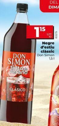 Oferta de Tinto de verano Don Simón por 1,15€