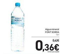 Oferta de Aigua mineral FONT SORDA por 0,36€