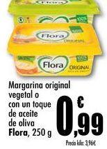 Oferta de Margarina original vegetal o con un toque de aceite de oliva Flora, 250g por 0,99€