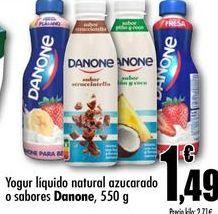 Oferta de Yogur liquido natural azucarado o sabores Danone, 550g por 1,49€