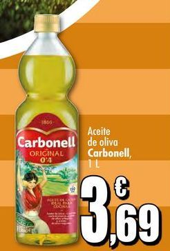 Oferta de Aceite de oliva Carbonell, 1L por 3,69€