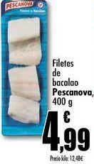 Oferta de Filetes de bacalao Pescanova, 400g por 4,99€