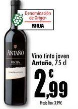 Oferta de Vino tinto joven Antaño, 75cl por 2,99€