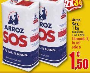 Oferta de Arroz Sos, 1 kg por 1,52€