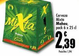 Oferta de  Cerveza Mixta Mahou pack 6 x 25cl por 2,39€