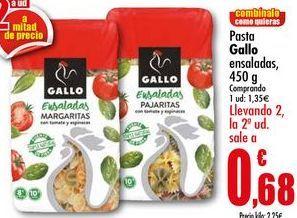 Oferta de Pasta Gallo ensaladas, 450g por 1,35€