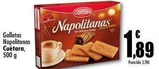 Oferta de Galletas napolitanas Cuetara, 500g por 1,89€