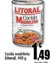 Oferta de Cocido madrileño Litoral, 440g por 1,49€
