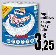Oferta de Papel multiusos 3 capas Foxy, rollo por 3,25€