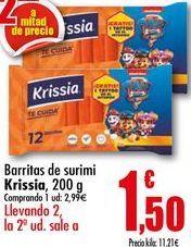 Oferta de Barritas de surimi Krissia, 200g por 2,99€