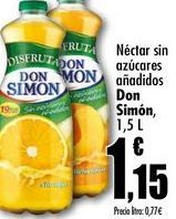 Oferta de Néctar sin azúcares añadidos Don Simon, 1,5L por 1,15€