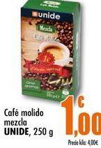 Oferta de Café molido mezcla UNIDE, 250g por 1€
