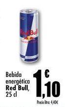 Oferta de Bebida energética Red Bull, 25cl por 1,1€