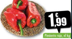 Oferta de Pimientos rojo, el kg por 1,99€
