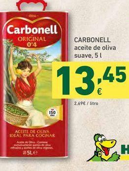 Oferta de CARBONELL aceite de oliva suave, 5 l por 13,45€