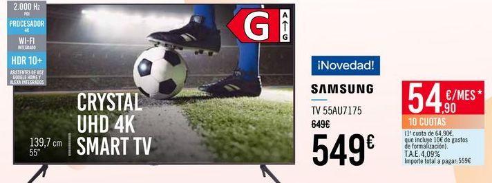 Oferta de SAMSUNG TV 55AU7175 por 549€